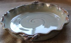 Ceramic pie plate Pottery Pie dish Baking dish by AudPottery