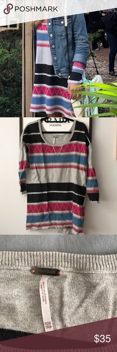 Free People Sweater Dress Super cute free people sweater dress- great for spring, fall, and winter. In great condition. Free People Dresses