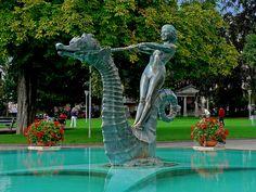 Hippocampus. Vevey - SWITZERLAND | Flickr - Photo Sharing! Vevey, Dream Pools, Public Art, Sea Creatures, Urban Art, Switzerland, Fountain, Places To Visit, Sculpture Ideas