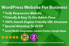 design wordpress website for business