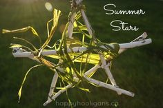 Add a little glam to your deck or patio with these simple homemade Summer Twig Ornaments. A gorgeous nature craft for kids. Makes a great gift!