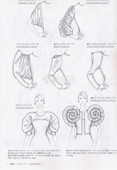 Guide to Fashion Design by Bunka fashion college (Japan)/ sleeves