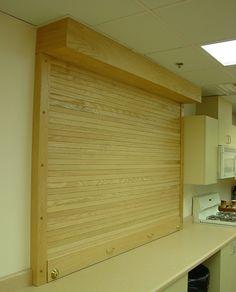 Wood Service Roll Up Door