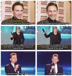 Tom Hiddleston and Chris Hemsworth = #Hiddlesworth | The bromance continues