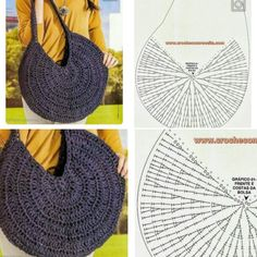 Diy Crafts - Crochet Bag / Simple And Beautiful Croch Beautiful - Diy Crafts Crochet Simple, Free Crochet Bag, Mode Crochet, Crochet Purse Patterns, Crochet Tote, Crochet Handbags, Crochet Purses, Crochet Stitches, Crochet Slippers