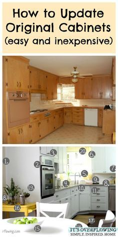 How to Update Original Cabinets (Easy and Inexpensive)