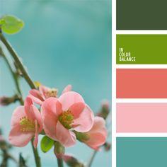 celeste, color azul celeste, color azul claro, color melocotón, colores suaves de primavera, elección del color, melocotón y verde, rosado y durazno, tonos celestes, tonos rosados, verde y coral, verde y rosado.