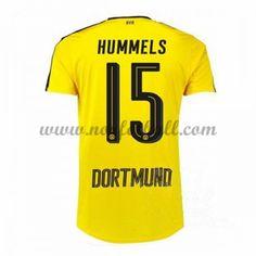 Billige Fotballdrakter BVB Borussia Dortmund 2016-17 Hummels 15 Hjemme Draktsett Kortermet