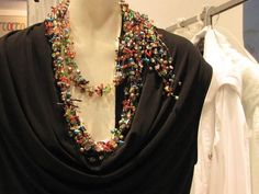 vintage necklace created for fashion show with semi precious stones