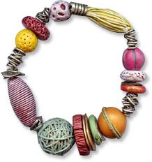 Ronna Sarvas Weltman from 2007 ... experimenting with various ways to use skinny polymer clay extruded strings
