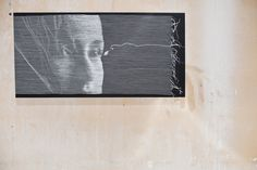 Stitched canvases by Inga Liksaite