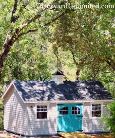 """12'x20' Garden Shed with Lap Siding, Carriage House Doors, 30""""x36"""" windows, Gable Vent, Cupola and Custom Paint http://www.backyardunlimited.com/sheds/garden-sheds"""
