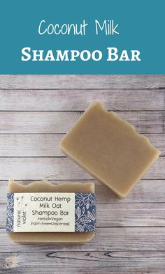 Coconut Milk Shampoo Bar - Solid Shampoo Bar - All Natural Shampoo - Palm Free and Vegan Shampoo - Zero Waste Shampoo Soap #affiliate