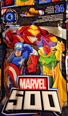 aa7d89c92c4 Marvel 500 Series 4 - Lot of 3 Blind Bags - UNOPENED  Marvel Series 4
