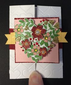 ATC Gate Fold by Beverly Stewart, aka ruby-heartedmom - Cards and Paper Crafts at Splitcoaststampers.  Stampin' Up stamps used: Bloomin' Love.