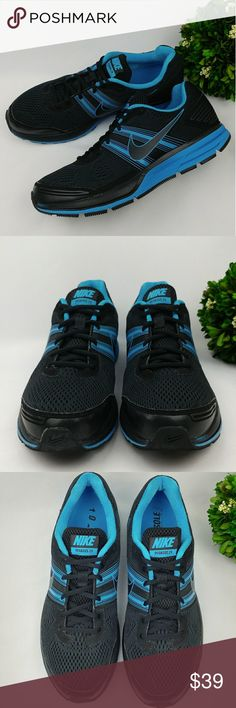 Nike Pegausus 29 mens athletic shoes Nike Pegausus 29 mens athletic shoes Black and blue color In great condition. Have been gently worn washed and sanitized. There are some minor scuffs and stains. Mens size 12 30 cm Nike Shoes Athletic Shoes