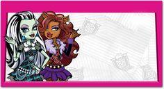 Faça sua carteirinha | Atividades de imprimir | Carteirinha monstro | Monster High beijos