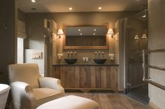 Swiss Chalet, Bathroom, from Woonmagazine,Beta-Plus Deco Spa, Modern Rustic Homes, House Inside, Home Upgrades, Bathroom Toilets, Bathroom Styling, Bathroom Inspiration, Bathroom Interior, Master Bathroom