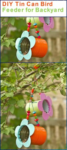 Tin Can Bird Feeder for Backyard - 89 Unique DIY Bird Feeders - Full Step by Step Tutorials - Page 4 of 6 - DIY & Crafts