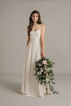 Sally Eagle Wedding Dress - pale pink wedding dress