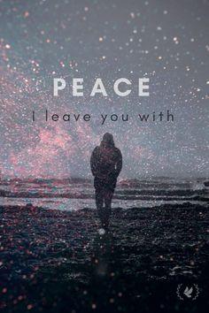 Peace I leave you