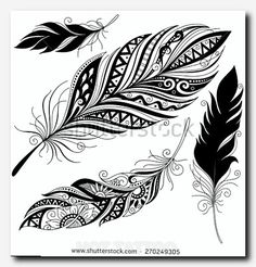 fantasy tattoo: Vector Peerless Decorative feather, tribal design, tattoo Source by citazoe Cage Tattoos, Feather Tattoos, New Tattoos, Tribal Tattoos, Tattoos For Guys, Sleeve Tattoos, Ladies Tattoos, Polynesian Tattoos, Tatoos