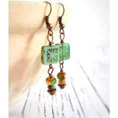 Minty Starburst Earrings ❤ liked on Polyvore featuring jewelry and earrings