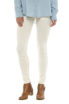 the super stretch skinny jean, CREAM