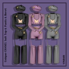 All The Mods, Sims 4 Dresses, Sims 4 Mods Clothes, The Sims 4 Download, Ts4 Cc, Sims 4 Custom Content, Sims Cc, Beret, Chanel