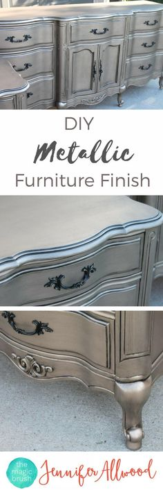Give Your Dresser a Shiny Silver Finish