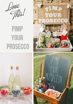 pimp your prosecco bar for weddings