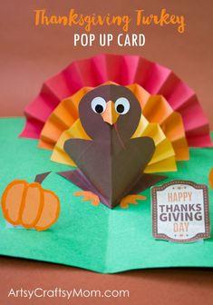 DIY Thanksgiving Turkey Pop Up Card