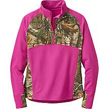 Ladies Broadhead Realtree Camo Performance Quarter Zip | Legendary Whitetails