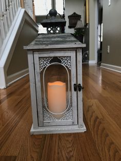 Lanterns with LED Candles - EIGHT in STOCK!    Great for decor down your aisle or around ur reception area!