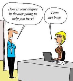 Transferable Skills funny cartoons from CartoonStock directory - the world's largest on-line collection of cartoons and comics. Cartoon Jokes, Funny Cartoons, Funny Comics, Funny Memes, Cartoon Fun, Hr Humor, Office Cartoon, Business Cartoons, Acting Skills