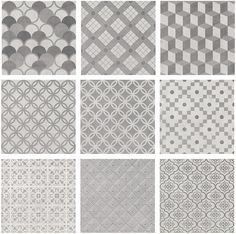 1576T Карнаби-стрит орнамент серый 20*20 керам.плитка