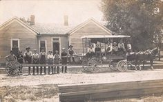 RPPC Men with Horse Pulled Wagon & Extension Michigan Electric Company~107912