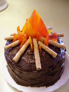 campfire cake. love this.