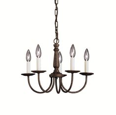 Kichler Chandeliers | Salem Chandelier 5-Light Incandesent, Tannery Bronze (1770TZ)