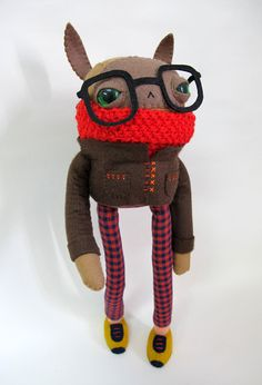 Wintery Nerd Rabbit Made to Order by catrabbitplush on Etsy, $130.00