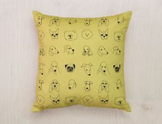 Our new range of cushions features popular patterns re-worked from our Wallpaper range alongside exclusive new designs. Cushions are Screen Printed on Cotton Panama and stuffed with Duck Feathers. Our cushions meet. Cute Cushions, Dog Cushions, Dog Wallpaper, Animal Wallpaper, Shop Interiors, Fabric Painting, Soft Furnishings, Linen Bedding, New Homes