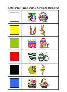 * Waar is het kleine stukje van? 2-2 Education, School, Manualidades, Easter Activities, Onderwijs, Learning
