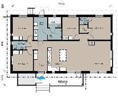 Valmistalot - mallistot  Planiatalo Floor Plans, Floor Plan Drawing, House Floor Plans