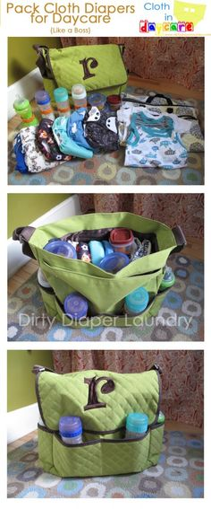 Pack Cloth Diapers for Daycare like a BOSS. (My kids don't go to daycare, but this is interesting, maybe for when they go to my mom's house!)