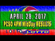 PCSO MidDay - 4PM Results April 29, 2017 (SWERTRES & EZ2)