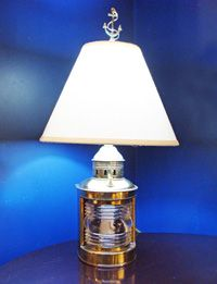 Vintage Nautical Brass Table Lamp, Wilcox Crittenden Bow Light At Skipjack  Nautical Wares Lamps,