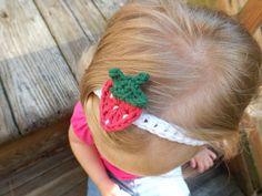 Strawberry Baby Headband by AbigailsAttic112