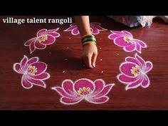 Rangoli Designs Latest, Eid Mehndi Designs, Rangoli Designs Flower, Rangoli Kolam Designs, Rangoli Ideas, Rangoli Designs With Dots, Rangoli With Dots, Flower Rangoli, Beautiful Rangoli Designs