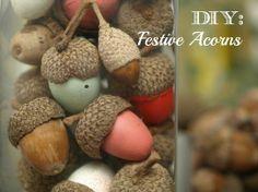 Diy: Festive Acorns