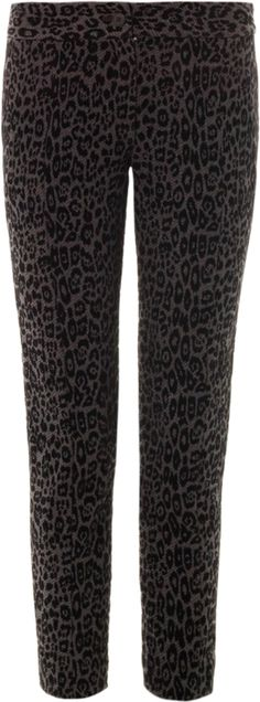 Give your wardrobe a dose of Thakoon Addition's New York city cool with these leopard flocked-velvet trousers.